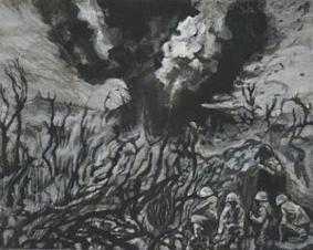 Thunderdome, 24cm x 30cm, Acrylics on canvas, 2006