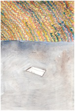 When a river is young (1B), 30cm x 19,5cm, Water colour on wood, 2013