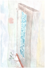Gleitkommazahl (2B), 20cm x 30cm, Water colour on wood, 2013