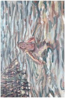 Catadupae (3B),20cm x 30cm, Acrylic paint on wood, 2013