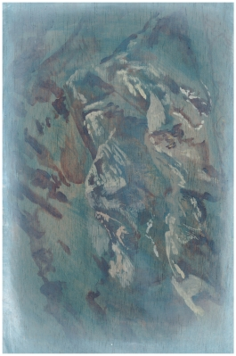 Presence of A Diving Board (5A), 20cm x 30cm, Oil paint on wood, 2013