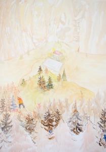 Studie voor de wandelaar, 140cm x 100cm, Acrylverf op doek, 2016