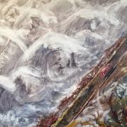 Noordzee storm, 62cm x 84cm, olieverf op doek, 2018