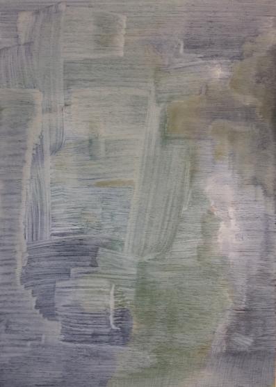 Forest (58A), 29cm x 21cm, Acrylic paint on wood, 2014