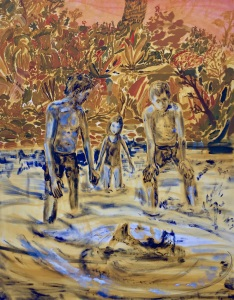 Rivierwandeling, 155cm x 122cm, Oil on canvas, 2020