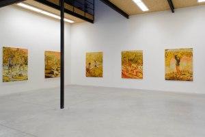 Overzichtsbeeld solo tentoonstelling 'Lesse is more' door Jan Verbruggen in het kunstenplatform DOM in Brussel.