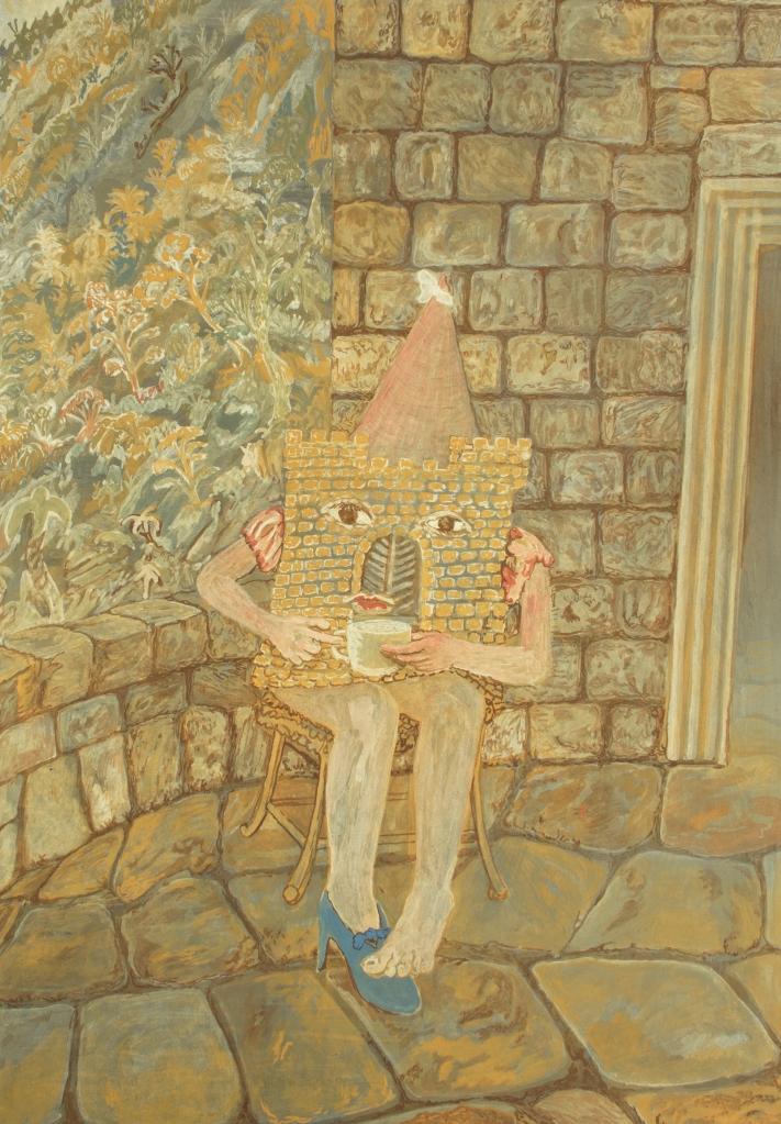 """Prinses Kasteel"", 34,7cm x 25cm, Gouache on paper, 2021"